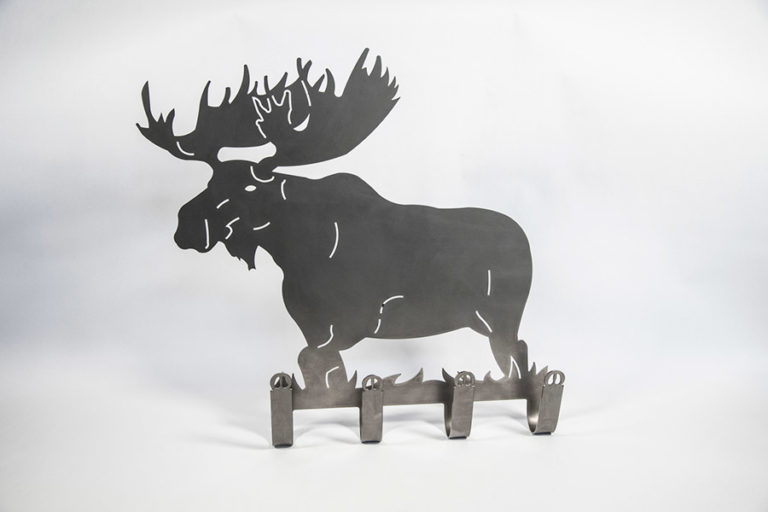 Moose shaped coat hanger