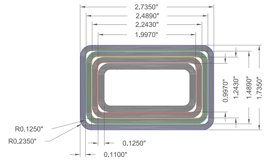 rectangular telescoping tube